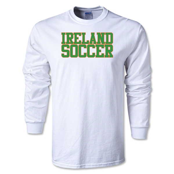 Ireland Soccer Supporter LS T-Shirt (White)