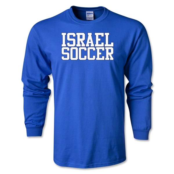 Israel Soccer Supporter LS T-Shirt (Royal)