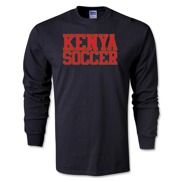Kenya Soccer Supporter LS T-Shirt (Black)