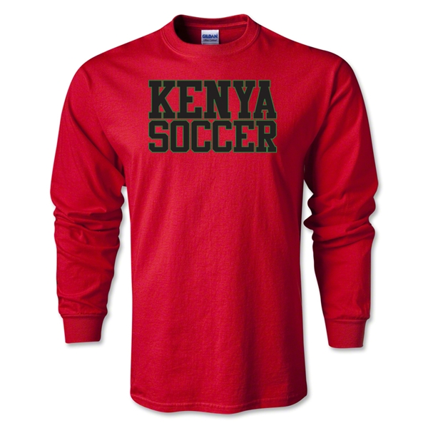 Kenya Soccer Supporter LS T-Shirt (Red)