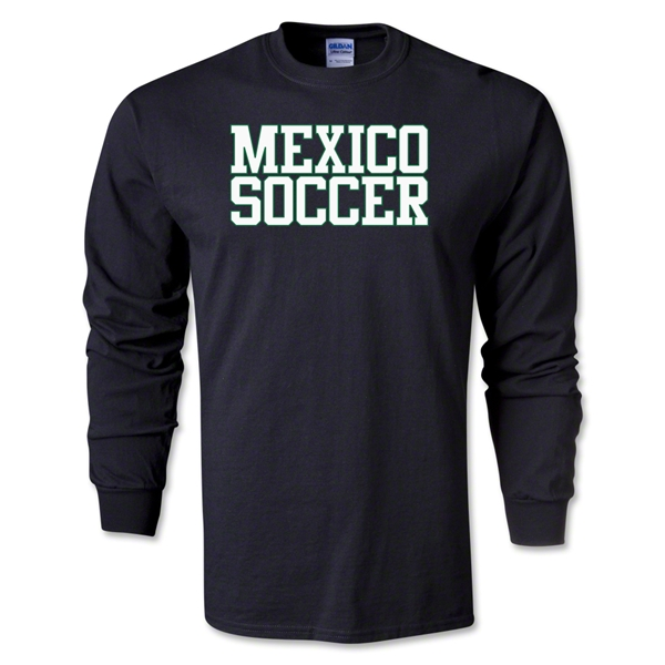 Mexico Soccer Supporter LS T-Shirt (Black)