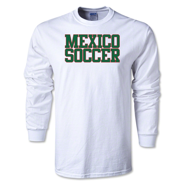 Mexico Soccer Supporter LS T-Shirt (White)