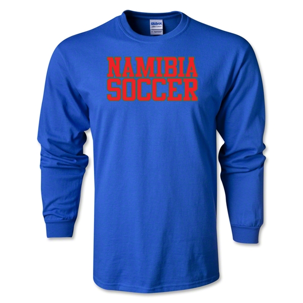 Namibia Soccer Supporter LS T-Shirt (Royal)