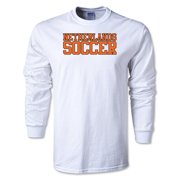 Netherlands Soccer Supporter LS T-Shirt (White)