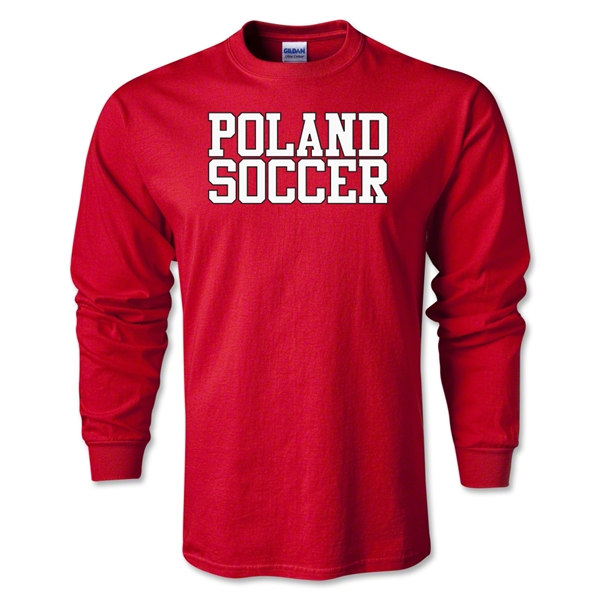 Poland Soccer Supporter LS T-Shirt (Red)