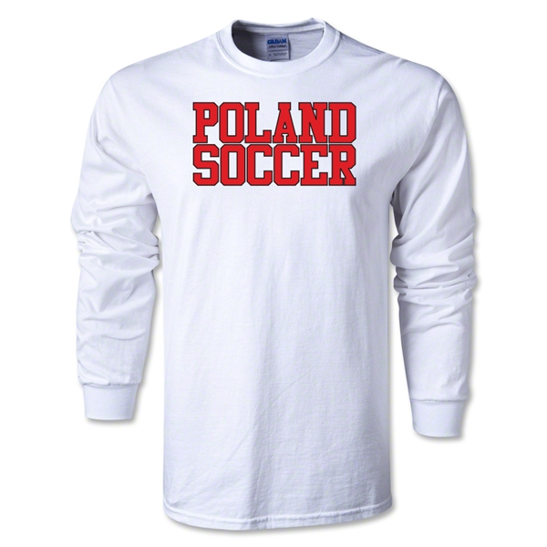 Poland Soccer Supporter LS T-Shirt (White)
