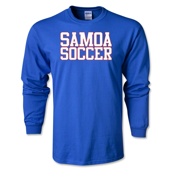 Samoa Soccer Supporter LS T-Shirt (Royal)