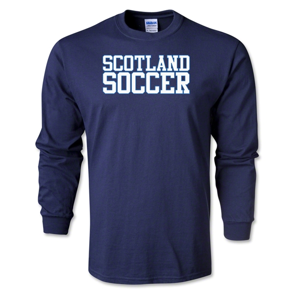 Scotland Soccer Supporter LS T-Shirt (Navy)