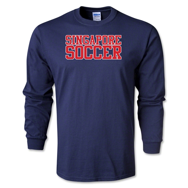 Singapore Soccer Supporter LS T-Shirt (Navy)