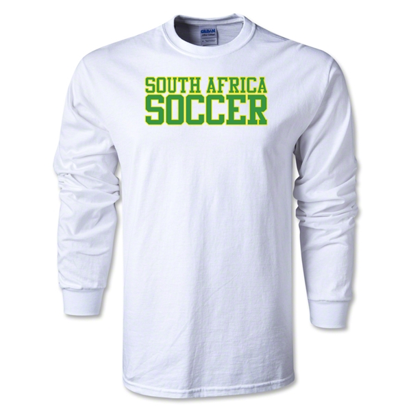 South Africa Soccer Supporter LS T-Shirt (White)
