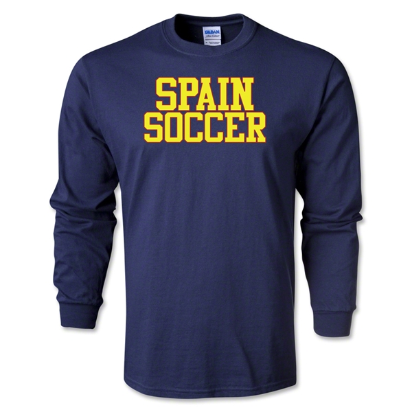 Spain Soccer Supporter LS T-Shirt (Navy)