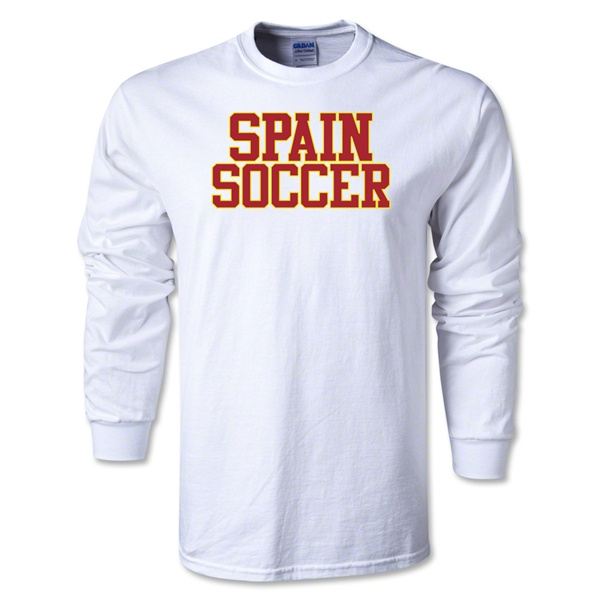Spain Soccer Supporter LS T-Shirt (White)