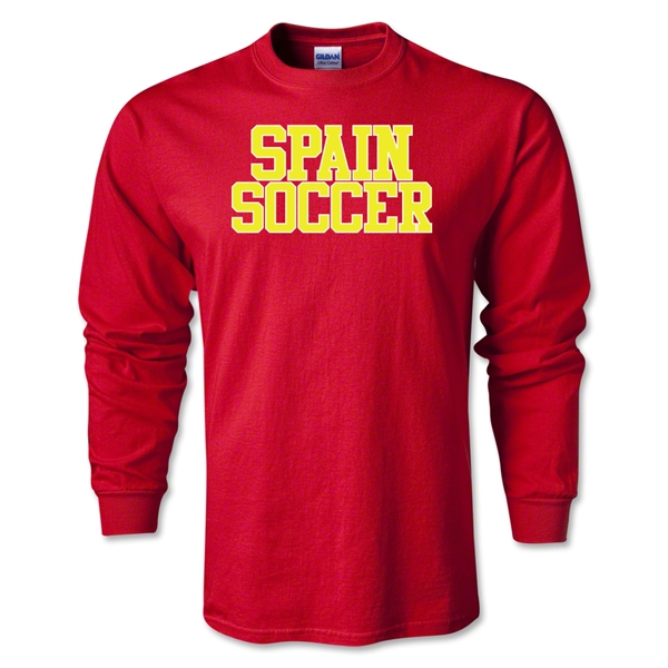 Spain Soccer Supporter LS T-Shirt (Red)