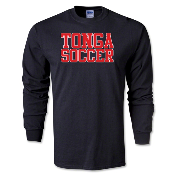 Tonga Soccer Supporter LS T-Shirt (Black)