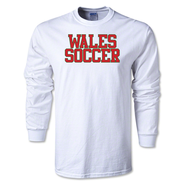 Wales Soccer Supporter LS T-Shirt (White)