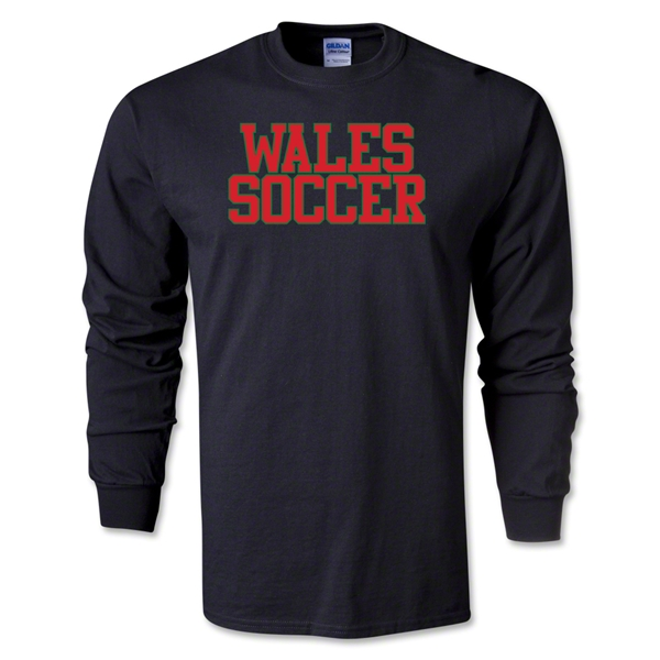 Wales Soccer Supporter LS T-Shirt (Black)