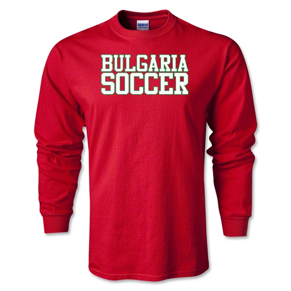 Bulgaria Soccer Supporter LS T-Shirt (Red)