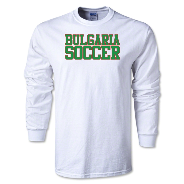 Bulgaria Soccer Supporter LS T-Shirt (White)