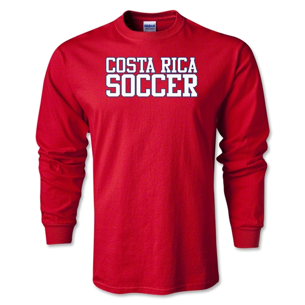 Costa Rica Soccer Supporter LS T-Shirt (Red)