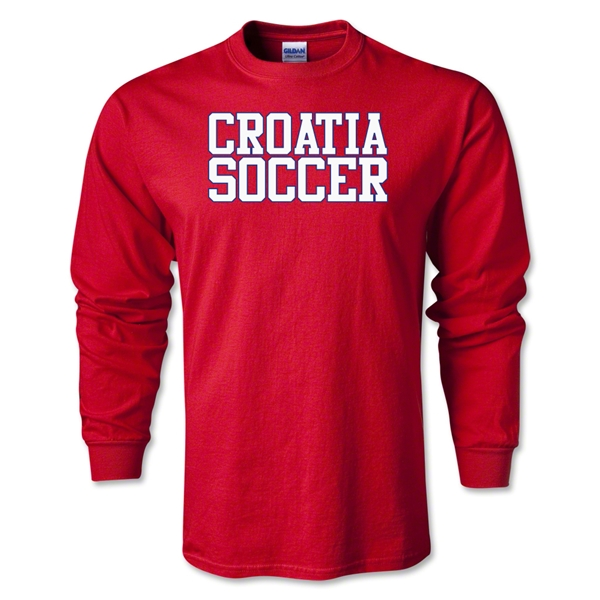 Croatia Soccer Supporter LS T-Shirt (Red)