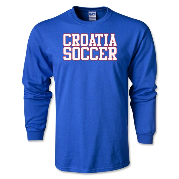 Croatia Soccer Supporter LS T-Shirt (Royal)