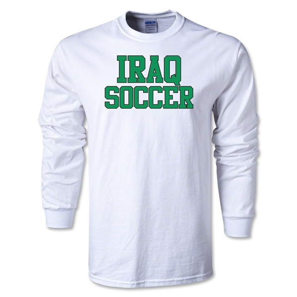 Iraq Soccer Supporter LS T-Shirt (White)