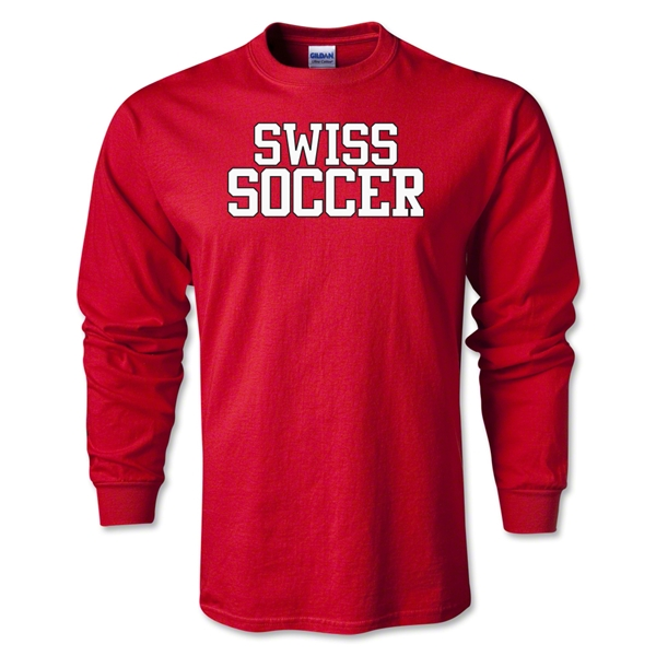 Swiss Soccer Supporter LS T-Shirt (Red)