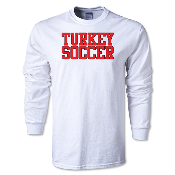 Turkey Soccer Supporter LS T-Shirt (White)