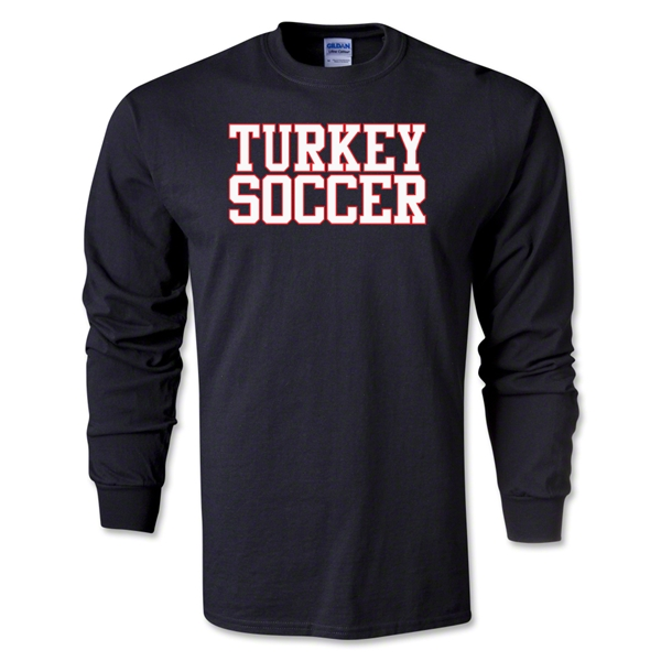 Turkey Soccer Supporter LS T-Shirt (Black)