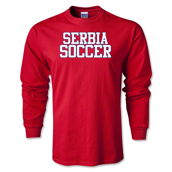 Serbia Soccer Supporter LS T-Shirt (Red)