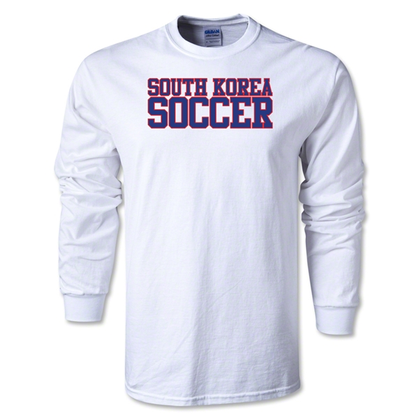 South Korea Soccer Supporter LS T-Shirt (White)