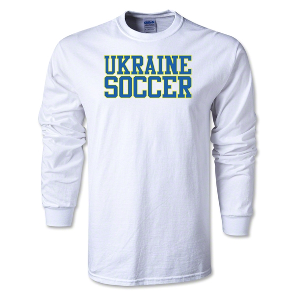 Ukraine Soccer Supporter LS T-Shirt (White)