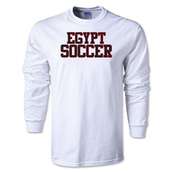 Egypt Soccer Supporter LS T-Shirt (White)