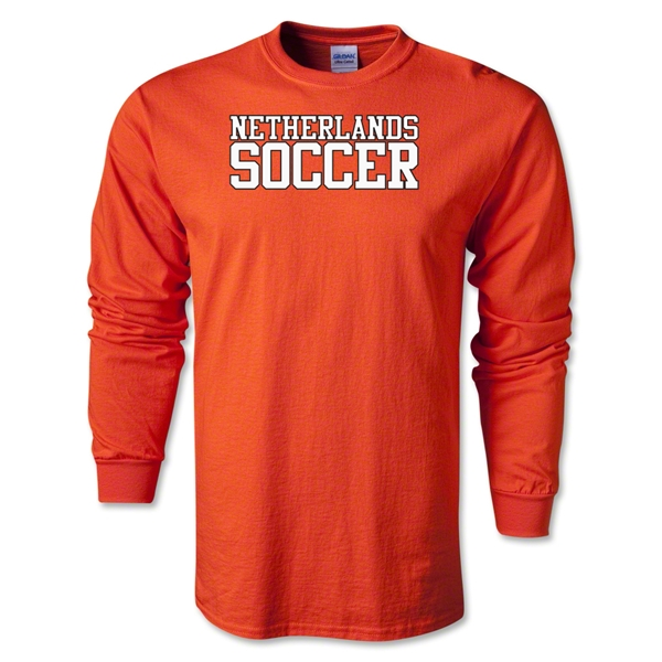 Netherlands Soccer Supporter LS T-Shirt (Orange)