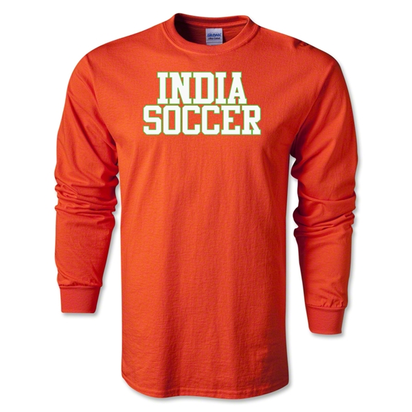 India Soccer Supporter LS T-Shirt (Orange)