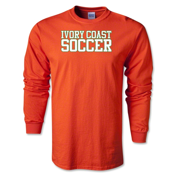 Ivory Coast Soccer Supporter LS T-Shirt (Orange)