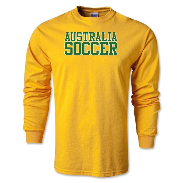 Australia Soccer Supporter LS T-Shirt (Gold)