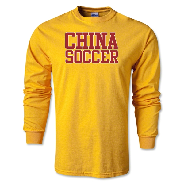 China Soccer Supporter LS T-Shirt (Gold)