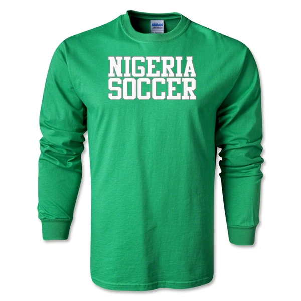 Nigeria Soccer Supporter LS T-Shirt (Green)