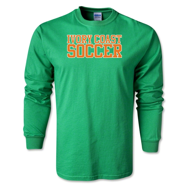 Ivory Coast Soccer Supporter LS T-Shirt (Green)