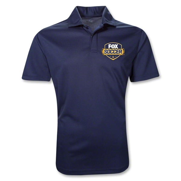 Fox Soccer Badge Polo Shirt (Navy)