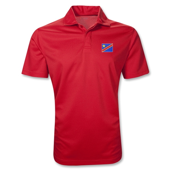 Congo DR Polo Shirt (Red)
