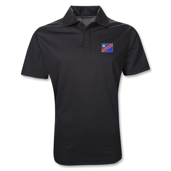 Congo DR Polo Shirt (Black)