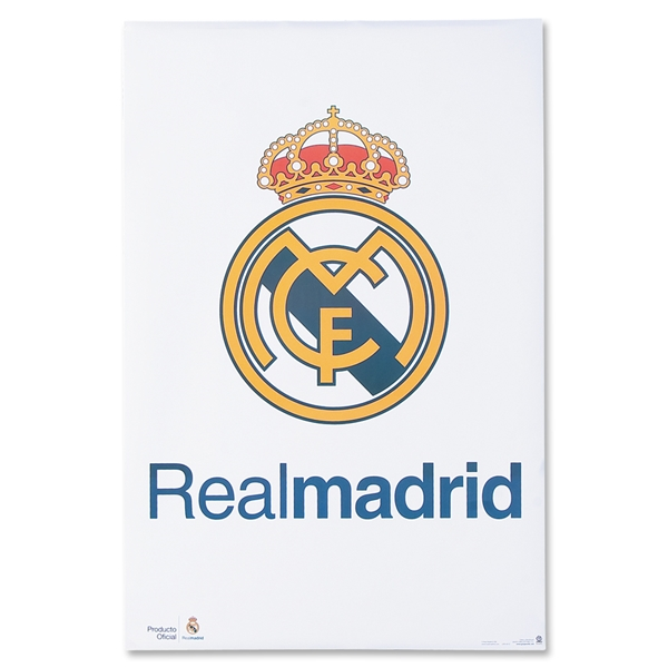 Real Madrid Crest 2'x3' Poster