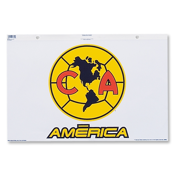 Club America Jumbo Window Clings