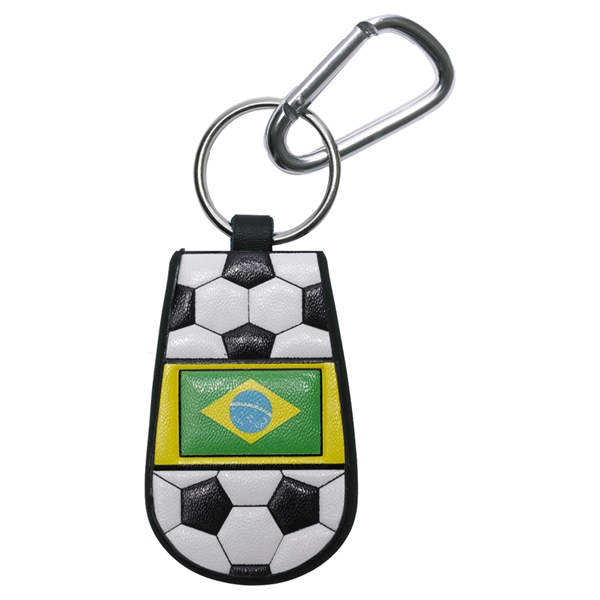 Brazil Flag Soccer Key Chain