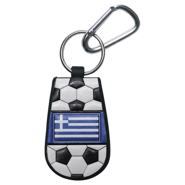 Greece Flag Soccer Key Chain