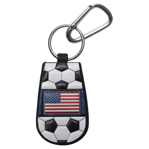 USA Flag Soccer Key Chain