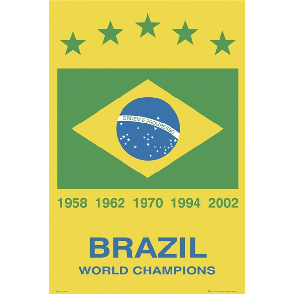 Brasil World Champs Poster