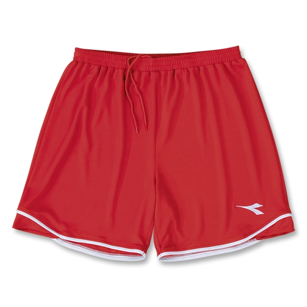 Diadora Terra Verde Women's Soccer Shorts (Red)